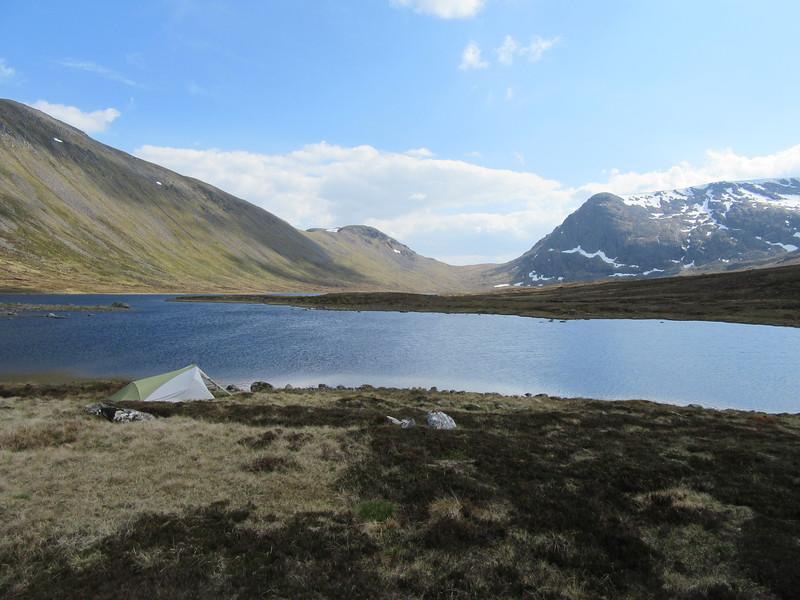 Camp at Loch a' bhealaich bheithe