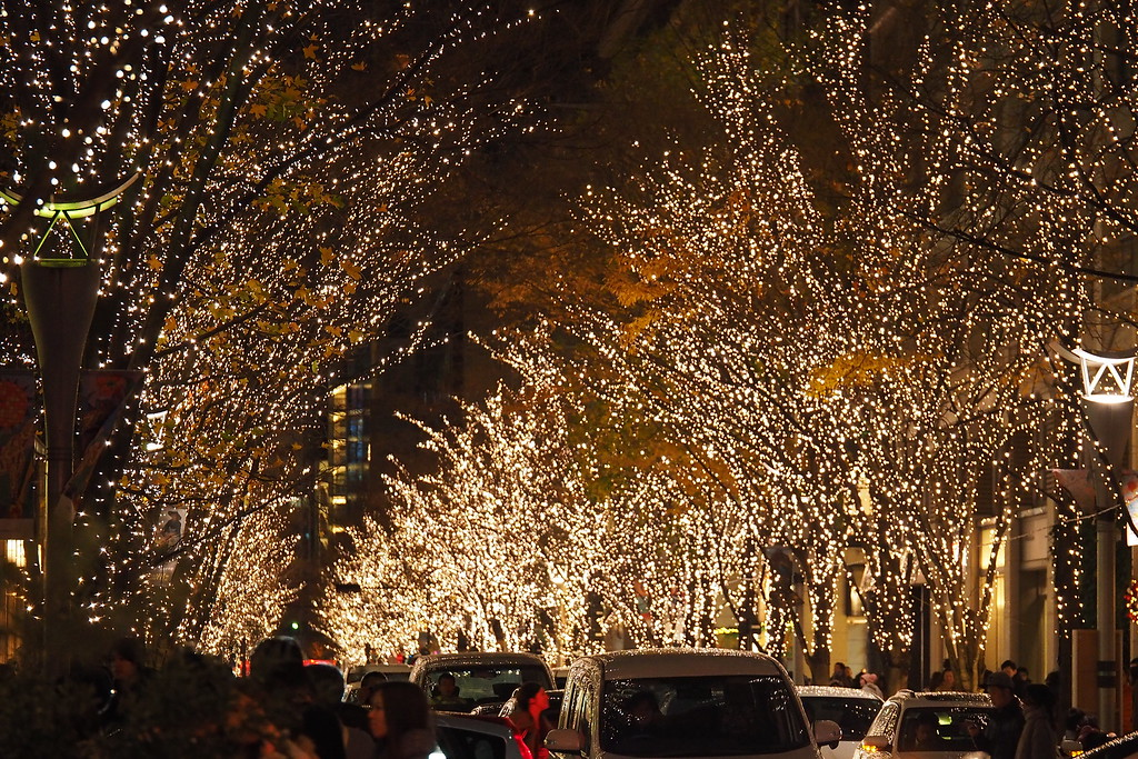 Fairytale lighting at the Marunouchi Illuminations.