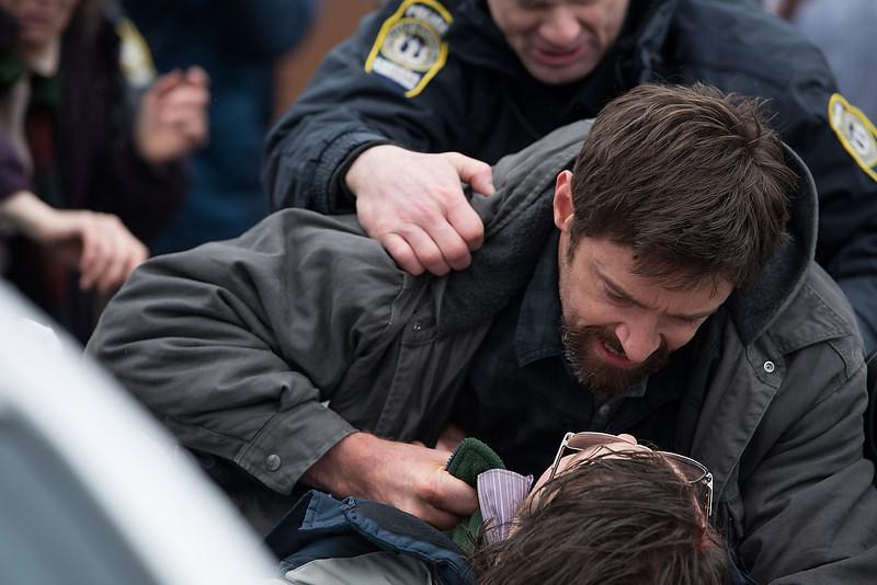 . Hugh Jackman as Keller Dover and Paul Dano as Alex Jones in \'Prisoners.\' (Wilson Webb/Warner Bros. Pictures)