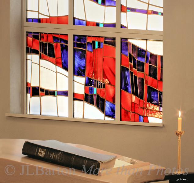 Flame of Faith Window of the Methodist Church, 15th district, Vienna, Austria