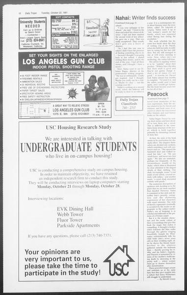 Daily Trojan, Vol. 116, No. 36, October 22, 1991