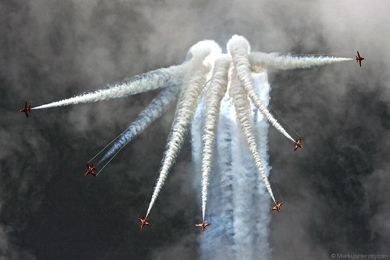 Red Arrows Hawk T1 Royal Air Force @ Bex Switzerland 2Sep07