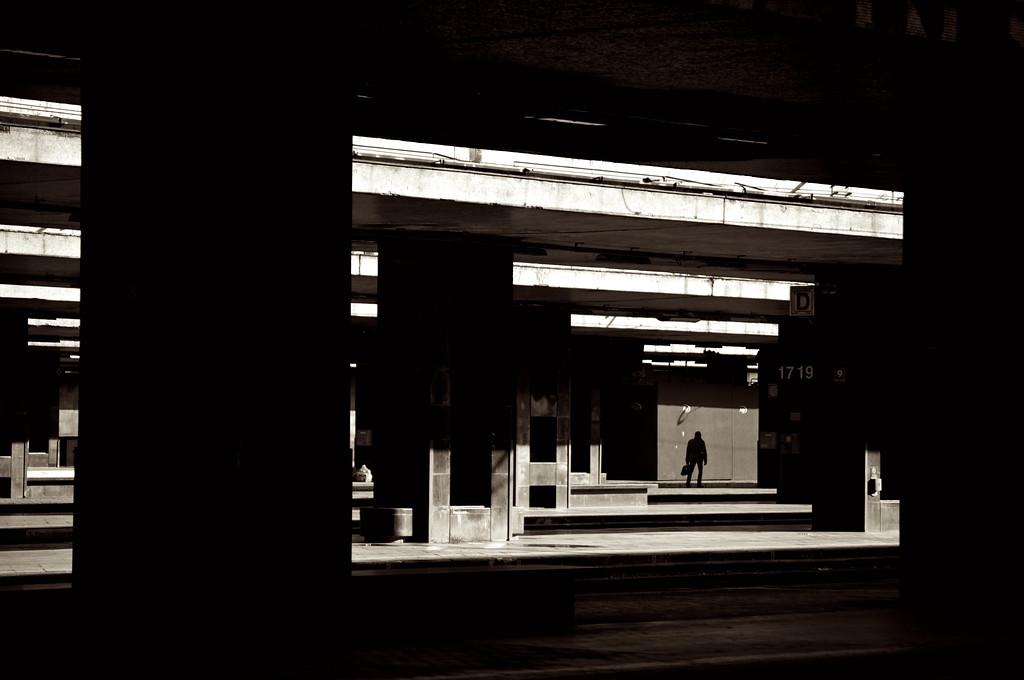 Distant Businessman - Roma Termini Station - Rome, Italy