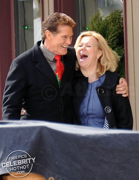 EXCLUSIVE: David Hasselhoff And Caroline Rhea Filming The Christmas Consultant in Canada