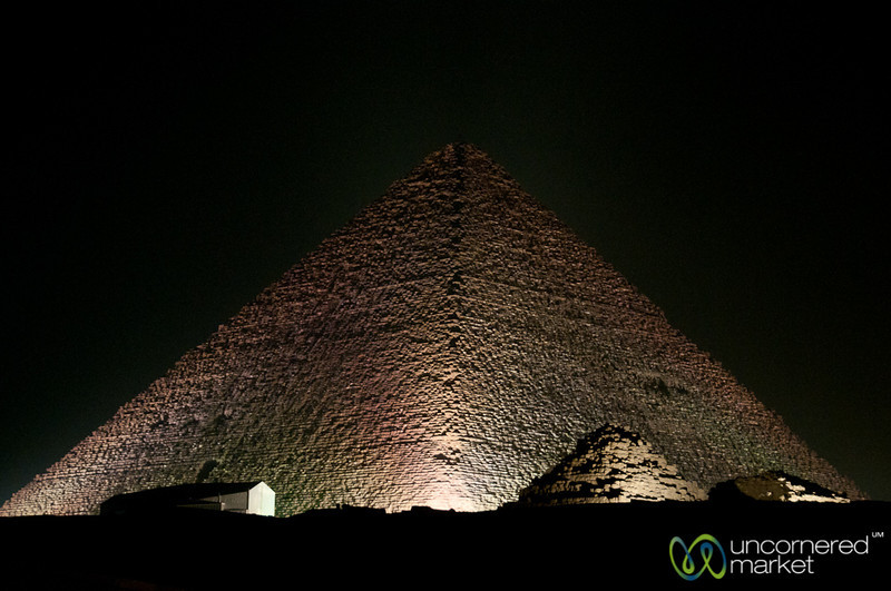 Great Pyramid of Giza at Night - Egypt