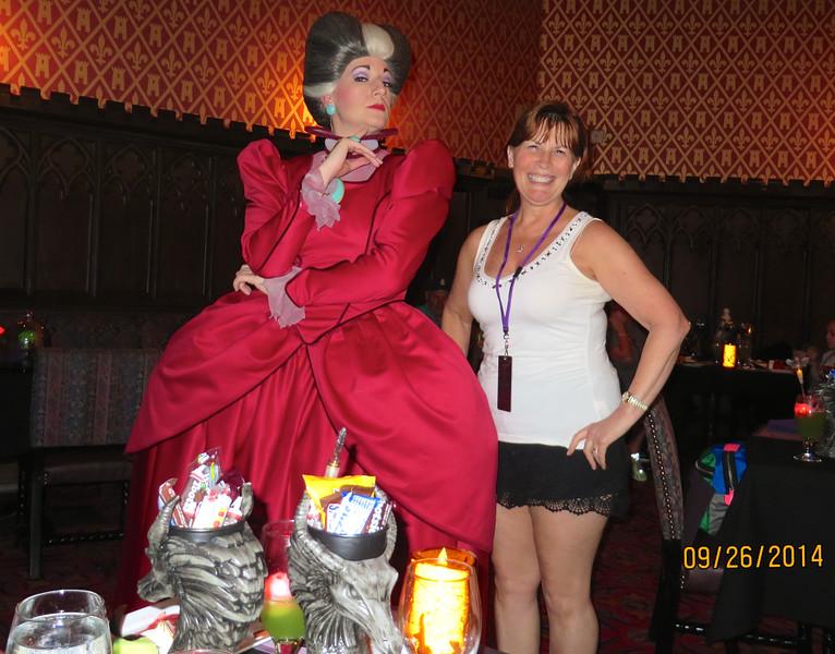 Ann Bellmor With Lady Tremaine At Disney World Castle Event September 2014 01