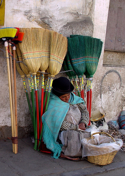 BROOM SELLERS - LA PAZ, BOLIVIA