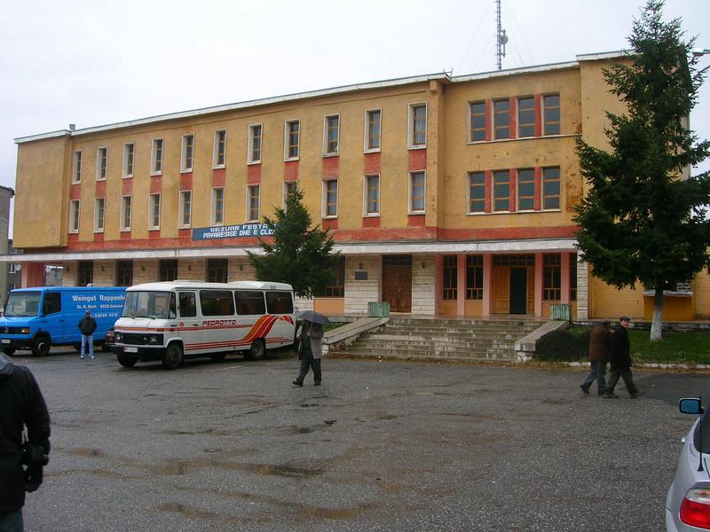 Albania, Puke, city hall.