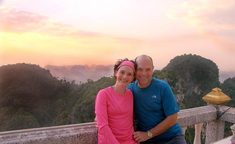 Soaking in the majestic views from atop Tiger Temple (Wat Tham Seua) - Krabi