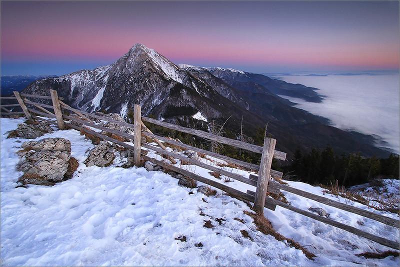 Mt. Storžič seen from Tolsti vrh