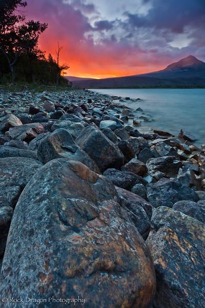 St. Mary Lake in Glacier National Park, Montana.