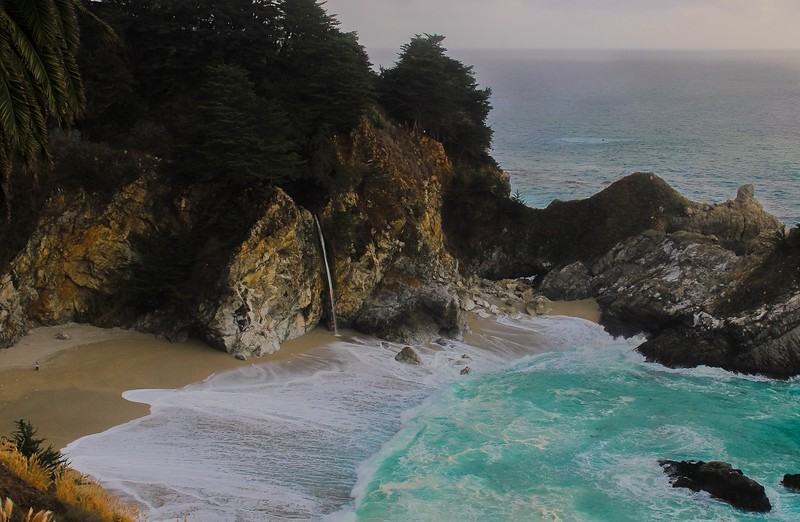 McWay Falls is 80 feet high.