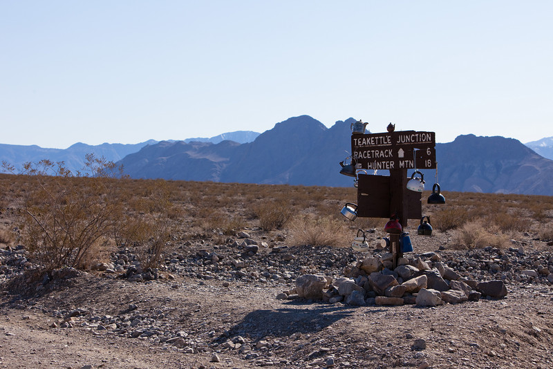 Teakettle Junction on the road to The Racetrack
