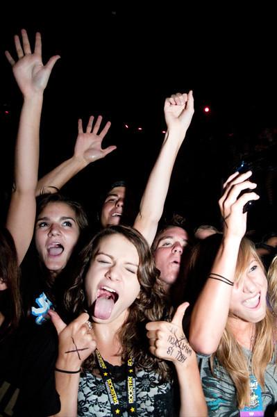 Breathe Carolina Fans Scream It Like You Mean It Tour Summit Music Hall, Denver, CO   August 26, 2011