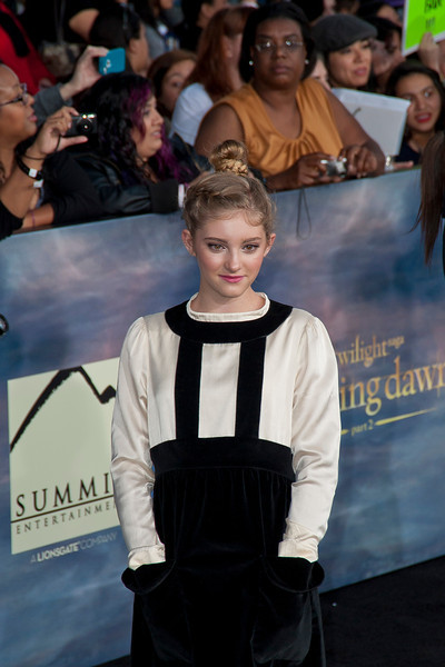 LOS ANGELES, CA - NOVEMBER 12: Actress Willow Shields arrives at the premiere of Summit Entertainment's 'The Twilight Saga: Breaking Dawn - Part 2' at Nokia Theatre L.A. Live on Monday, November 12, 2012 in Los Angeles, California. (Photo by Tom Sorensen/Moovieboy Pictures)