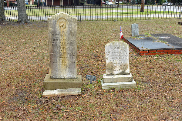 Oak Grove Cemetery Society Cleans Captain Christensen Plot 01-12-19