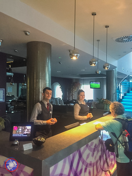 The Welcoming Front Desk at the Galaxy Hotel**** in Krakow, Poland (©simon@myeclecticimages.com)