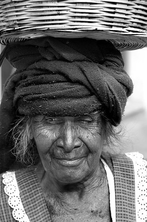 The lady who sold avocados at the market.  Oaxaca, Mexico -2013