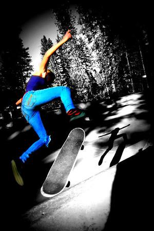 Shredding, Thrashing & Crashing ~ Condon Skate Park ~ Grass Valley Calif ~ Dec. 28, 2013