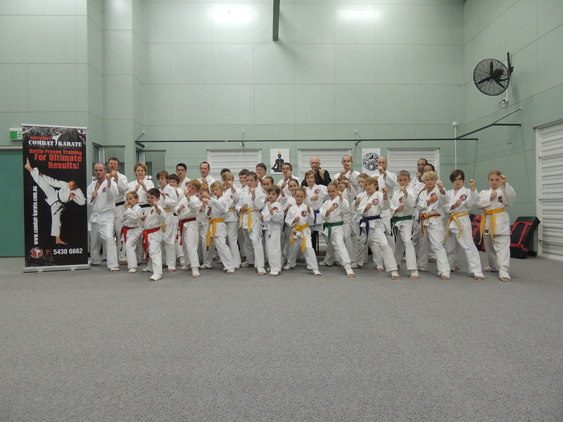 Combat Karate Noosa Junior & Senior Class Students after New Grade Belt Assessment! WELL DONE all of you!