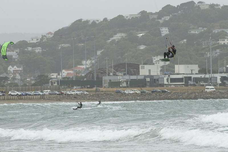 20160325 Kite Boarders at Lyall Bay, Wellington _MG_2336
