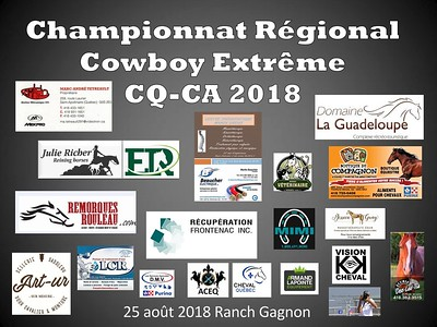 Championnat Régional CQ-CA 2018 Aug 25, 2018