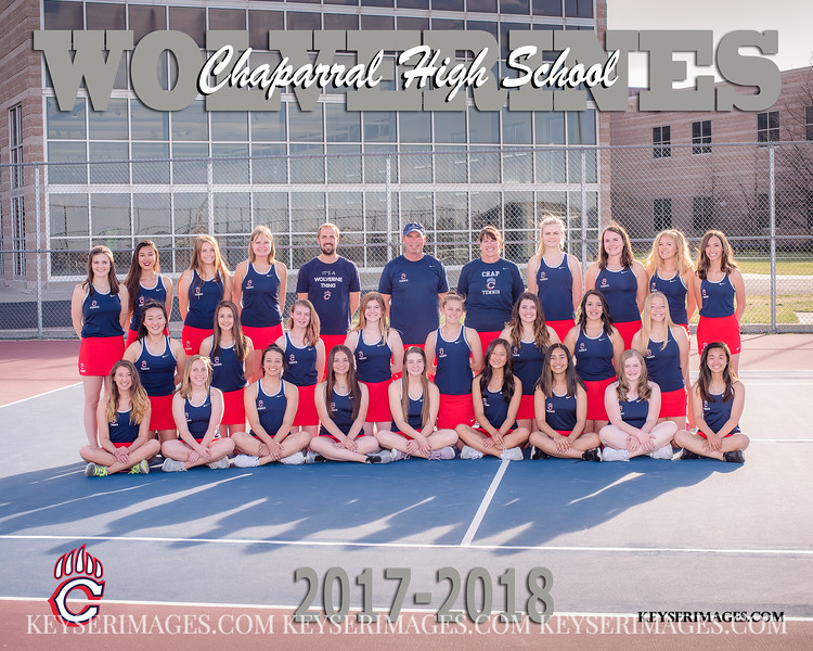 2017-2018 CHAPARRAL GIRLS TENNIS