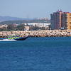 The Royal Gibraltar Police maritime patrols respond to sightings in the area of western beach.