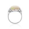 5.01ct Art Deco Opal and Diamond Ring 4