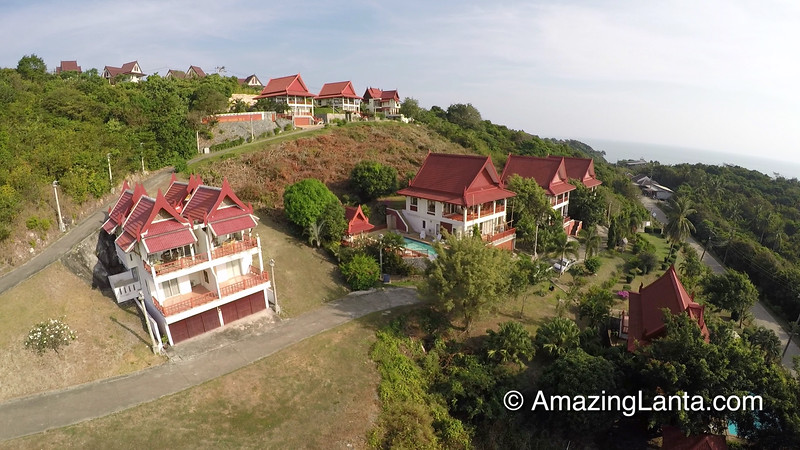Twin House Villa Aerial View