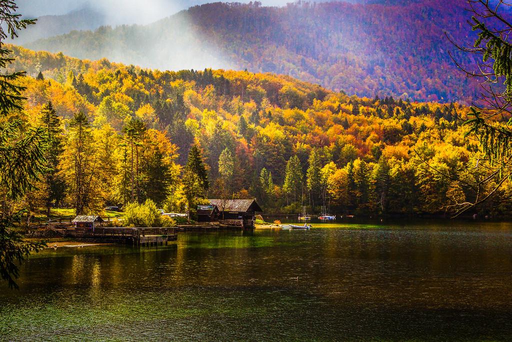 斯洛文尼亚博希尼湖(Lake Bohinj),美景如画
