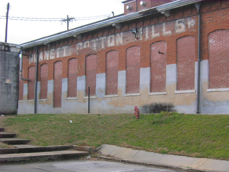 08 03-14 Rear (railroad side) of Lanet Cotton Mill. lcf