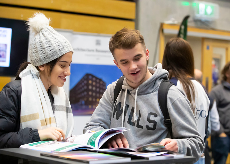 """22/11/2019. FREE TO USE IMAGE. Pictured at Waterford Institute of Technology (WIT) Open Day. Pictured are Emma Byrne Naas and John McNamara Carlow. Picture: Patrick Browne  Two open days taking place this week for school leavers and adult learners at WIT Arena  Families of south east Leaving Cert students wishing to get as much course and college-related research done as early as possible in sixth year can do so by attending the Waterford Institute of Technology (WIT) Saturday Open Day, 9am-2pm on 23 November 2019. The traditional schools' open day will run as usual on Friday, 22 November with a focus on information for secondary school students, students in further education colleges, and other CAO applicants, including mature students.  The Saturday Open Day – isn't just about courses for school leavers – it will have information available on the courses available across WIT's schools of Lifelong Learning, Humanities, Engineering, Science & Computing, Health Sciences, Business.  Adults interested in upskilling, or re-skilling can find out about Springboard courses, traditional evening courses as well as part-time and postgrad courses which are offered. WIT also runs specialist programmes for education, science, engineering and other professionals. The number of students studying WIT's part-time and online courses increased to 1650 in 2018, a 28% increase on 2017.  WIT Registrar Dr Derek O'Byrne says: """"A trend we are seeing at WIT Open Days is that students who may have enjoyed the Schools Open day with their friends and school groups, will return the following day with their parents or guardians.""""  Students whose schools are attending are encouraged to join their school group on the Friday. As school students are fully catered for at the Schools' Open Day on Friday, there will not be the same breadth of school leaver focused talks and events at the open day on Saturday. However, says Dr O'Byrne it is useful for parents to be able to find out ab"""