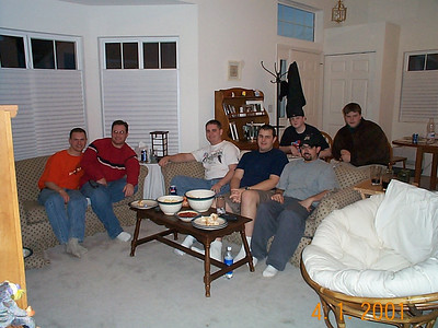 Wrestlemania at our house - April 1, 2001