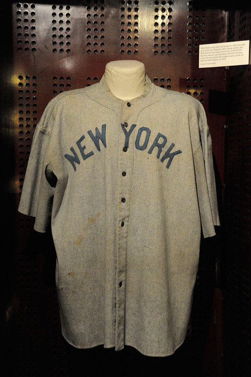 . Babe Ruth Jersey on Display at National Baseball Hall of Fame from Anonymous Donor.  (PRNewsFoto/National Baseball Hall of Fame)