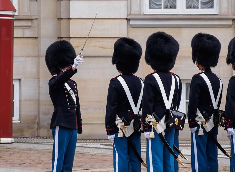 Changing of the guard at Amalienborg Palace