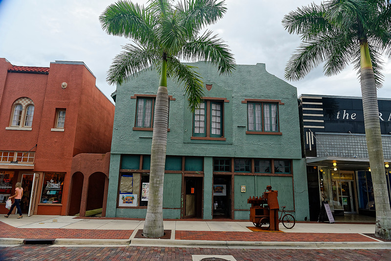 Royal Plams Along First Street - Ft. Myers, Florida