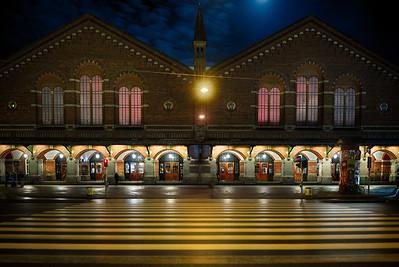 Copenhagen Central Station at Night