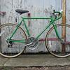 "$220 Schwinn Varsity 10 spd road bike #0042302. 22"" frame, 27"" wheels."