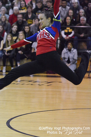 1-31-2015 Wootton HS Varsity Poms at Northwest HS Invitational, MCPS Championship, Photos by Jeffrey Vogt Photography with Kyle Hall