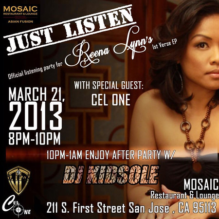 "Reena Lynn ""Just Listen"" event Mosaic"