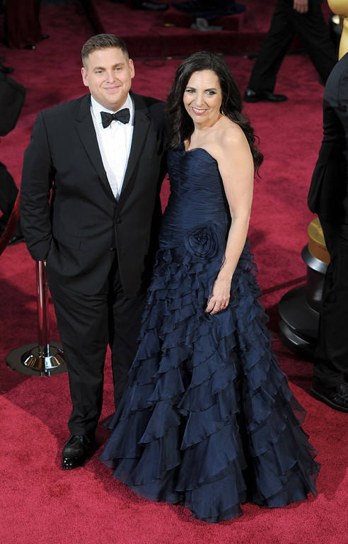 . Jonah Hill and guest attend the 86th Academy Awards at the Dolby Theatre in Hollywood, California on Sunday March 2, 2014 (Photo by John McCoy / Los Angeles Daily News)