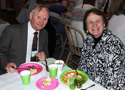 At right is Bishop Ann Brookshire Sherer-Simpson.  Her husband Wayne is at left - 25 Mar 2012