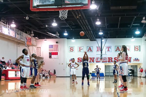Broughton girls varsity basketball vs Sanderson. February 12, 2019. 750_5938