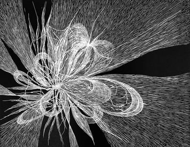 """Ether"" (linocut) by Dundicz Anastasija"