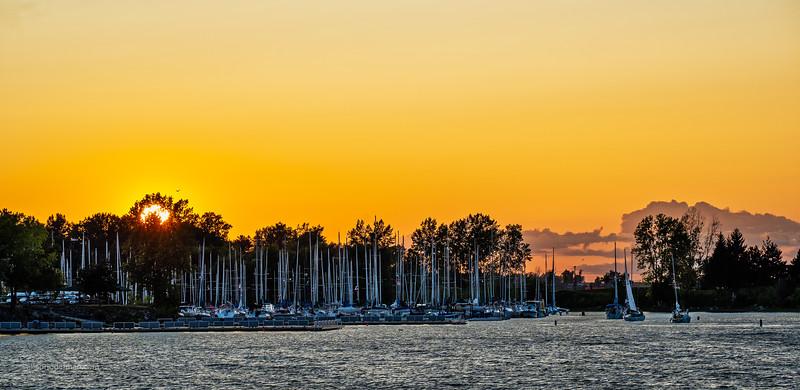 Sunset From Andrew Hayden Park Ottawa