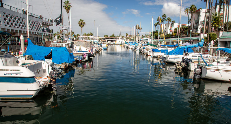 Rodondo Beach Marina in California