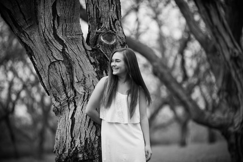 Tori- Grandfather's Walnut Orchard - Senior Photography-Mustard Flowers - Linden - California