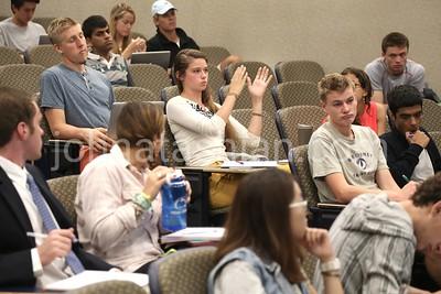 Trinity College - Class in McCook Auditorium - September 9, 2013