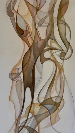 """Up in Smoke II by Jardine, 30""""x60"""" acrylic painting on loose canvas (AELJC18-6-07)"""